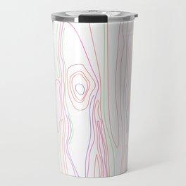 Neon Wood Grain Travel Mug