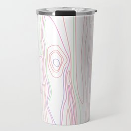 Neon Wood Grain Travel Mug