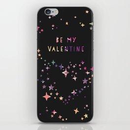 Be my valentine wall art print iPhone Skin