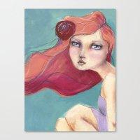 jane davenport Canvas Prints featuring Beautiful Faces by Jane Davenport by Jane Davenport