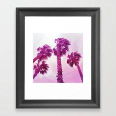 Neon Palms Framed Art Print