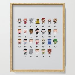 Doctor Who Alphabet Serving Tray