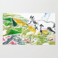 goat Area & Throw Rugs featuring Goat by Kirsten zuiderbaan