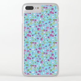 Flowers, Clovers & Diamonds Clear iPhone Case