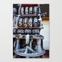 numbers Canvas Prints featuring Numbers by Kent Moody