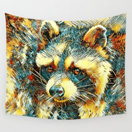 AnimalArt_Raccoon_20180101_by_JAMColors Wall Tapestry