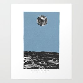 Earth from the Moon Art Print