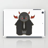 crowley iPad Cases featuring Crowley Demon Penguin Supernatural by ParallelPenguins