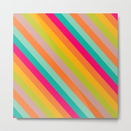 Stripes Colored Metal Print