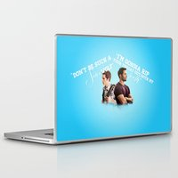 stiles stilinski Laptop & iPad Skins featuring Stiles & Derek (Teen Wolf)  by mellarkstilinski