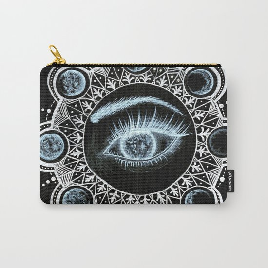 Phases of the Moon Mandala Carry-All Pouch