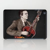 johnny cash iPad Cases featuring Johnny Cash by Daniel Cash