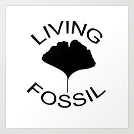 Ginkgo leaf. Living fossil Art Print
