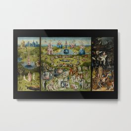 The Garden of Earthly Delights, Surreal, Hieronymus Bosch Metal Print