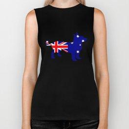 Australian Flag - Chihuahua Biker Tank