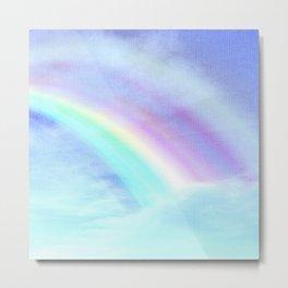 Watecolor Rainbow Metal Print