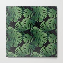 Modern Monstera Leaves Tropical Jungle Metal Print