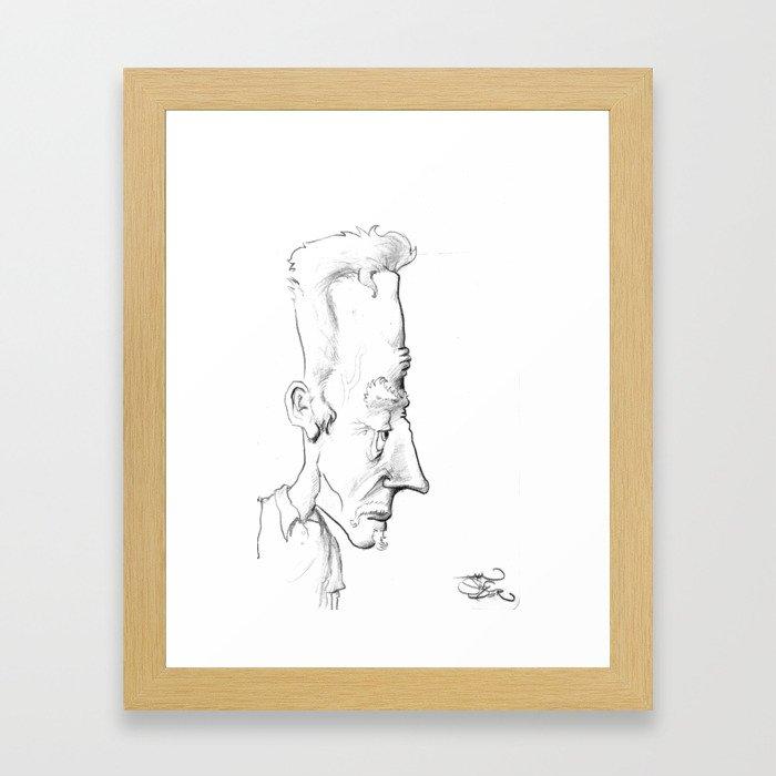 Long Face #1 Framed Art Print