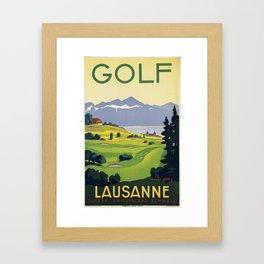 Lausanne Golf Framed Art Print
