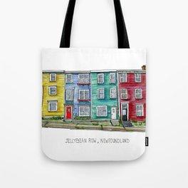 Jellybean Row Newfoundland Tote Bag
