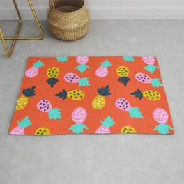 Pineapple Party – Red & Pink Palette Rug