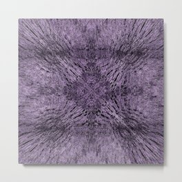 Mandala Motion Purple Metal Print