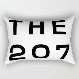 207 Maine Area Code Typography Art Rectangular Pillow