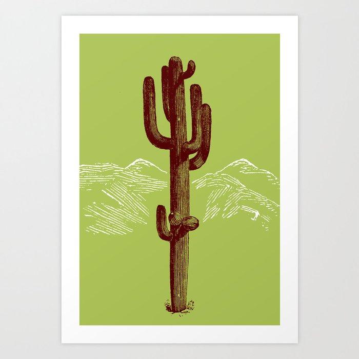 cactus y nieve Art Print