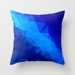 Abstract digital art polygon triangles Throw Pillow