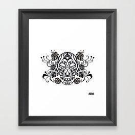 SKULL FLOWER 02 Framed Art Print