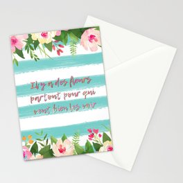 Il y a des fleurs partout... - French Quote Collection Stationery Cards