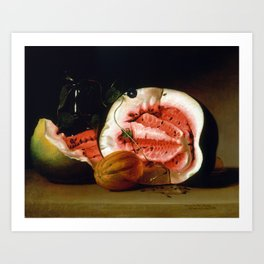 Raphaelle Peale Melons and Morning Glories Art Print