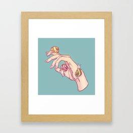 Hand Study No.1 // The Snails One Framed Art Print
