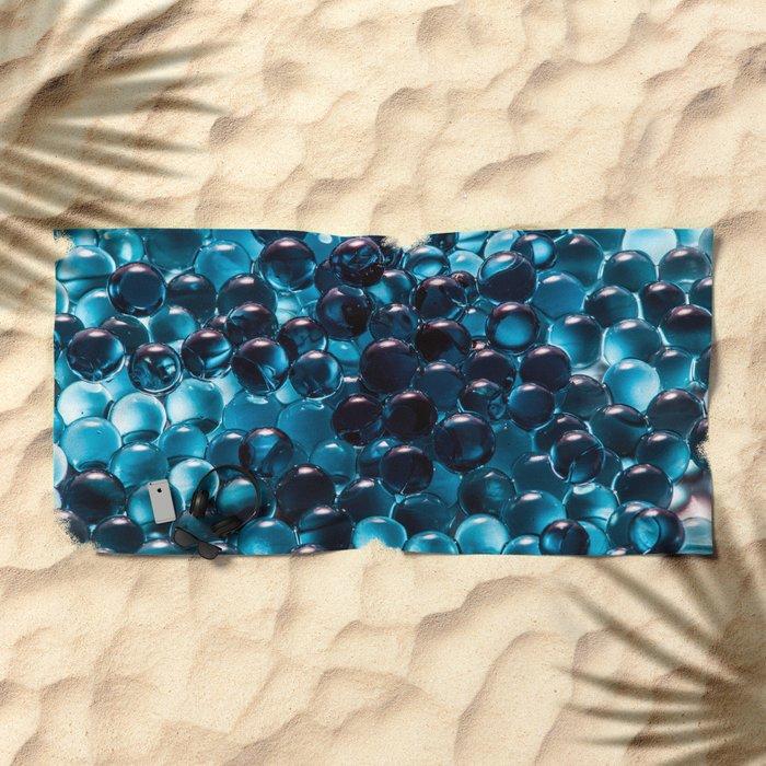 Blue sphere Beach Towel