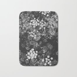 The Flowers (Black and White) Bath Mat