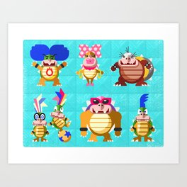 Koopalings! Art Print