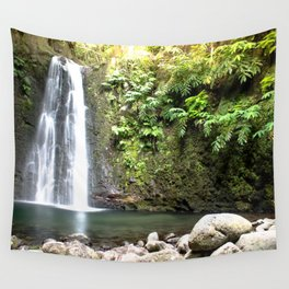 lime green waterfall Wall Tapestry
