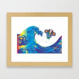 Hokusai Rainbow & Jpanese Yakko kite  Framed Art Print