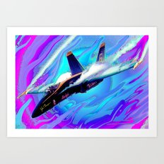 Blue Angels High G Art Print