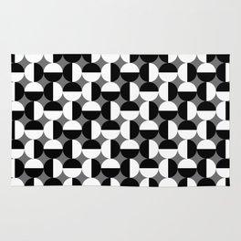 Geometric Circles Grey/Gray Rug