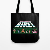 megaman Tote Bags featuring MegaMan Style by Svampriket