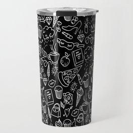 Easy girlish Doodle pattern Travel Mug
