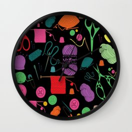 knitting Wall Clock