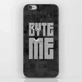 Byte Me iPhone Skin
