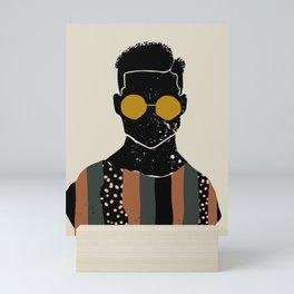 Black Hair No. 7 Mini Art Print