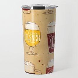 Poster types beer craft Travel Mug