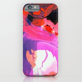 Eye of the red hurricane iPhone Case