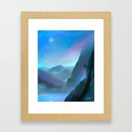 Life Mountain Climbing Framed Art Print