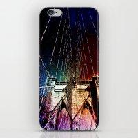 brooklyn bridge iPhone & iPod Skins featuring Brooklyn Bridge by Vivienne Gucwa