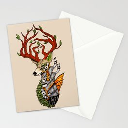 Steampunk Deer Stationery Cards